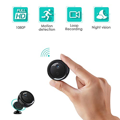 🥇 Spy Camera Hidden Wireless Camera WiFi Mini HD 1080P Portable Home Security Cameras Covert Nanny Cam Small Indoor Outdoor Video Recorder Motion Activated Night Vision
