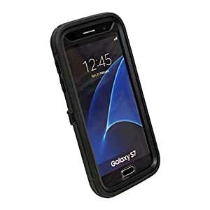 CUSTOM Black OtterBox Defender Series Case for Samsung Galaxy S7 –