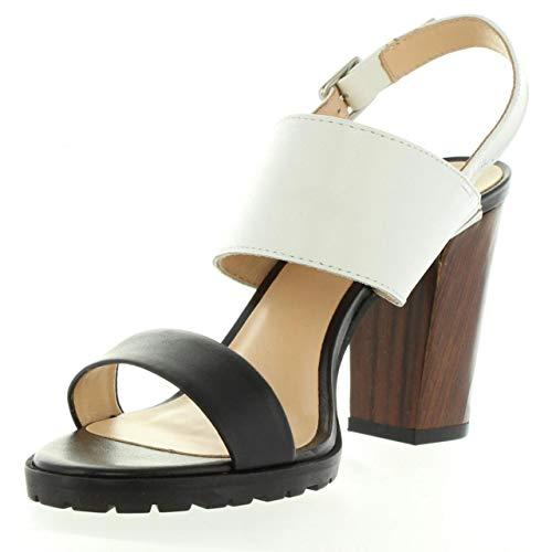 Femme Noir Pour 50 Kickers Sardan Sandales Blanc 502050 33 Uq886EA