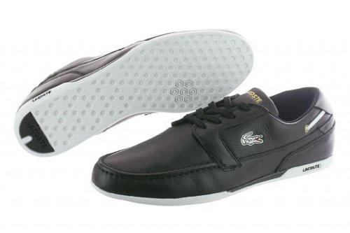 Lacoste Men's Dreyfus Ap Spm Lace-Up Sneaker,Black/Gold,10 M US by Lacoste