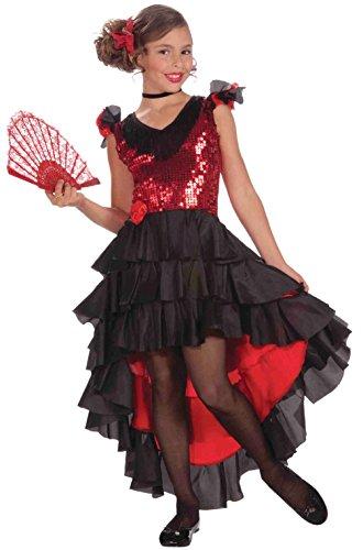 Spanish Dancer Girls Child Costume (Adult Spanish Dancer Blonde Wig)