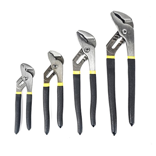 - TOPLINE 4-piece Groovr-joint Pliers Set with Dipped Handle, Included 12-in Groove Joint Pliers, 10-in Groove Joint Pliers, 8-in Groove Joint Pliers, 6-in Groove Joint Pliers
