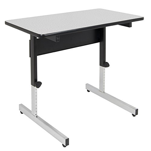 Offex Home Office Adapta Table - Black/Spatter Gray
