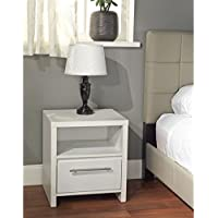 Simple Living White Night Stand Lends Clean Lines And Fresh Style To Bedrooms