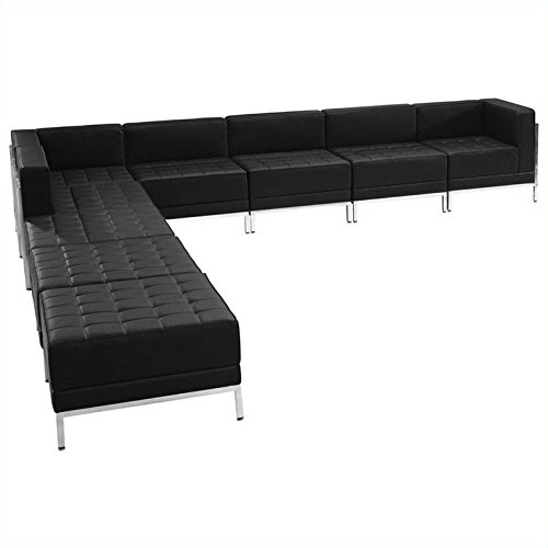 Flash Furniture ZB-IMAG-SECT-SET11-GG HERCULES Imagination Series Black Leather Sectional Configuration 9
