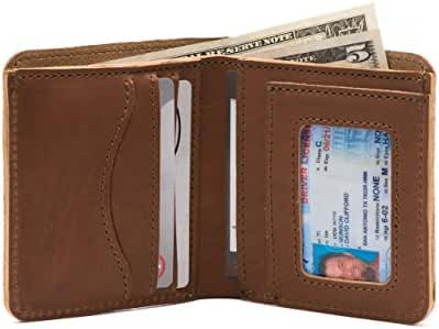Saddleback Leather Square Wallet - 100% Full Grain, All Leather, RFID Shielding Bifold Wallet with Bonus Leather Pouch.