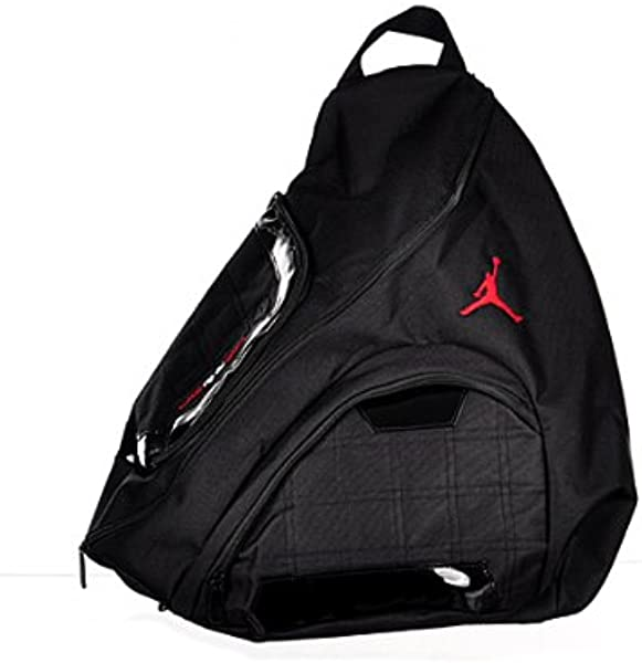 42d8851e390ff5 Nike Jordan Jumpman Sling Black Patent Red Zipper Book-Bag BackPack  Men Women  Amazon.ca  Shoes   Handbags