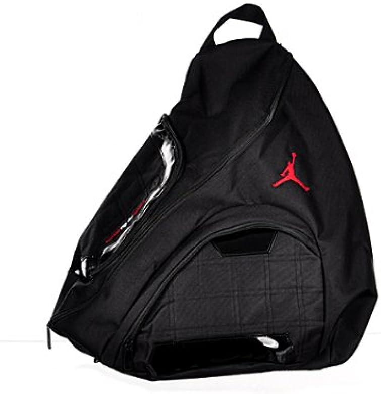 f0cbcc78bdc Nike Jordan Jumpman Sling Black Patent/Red Zipper Book-Bag BackPack ...