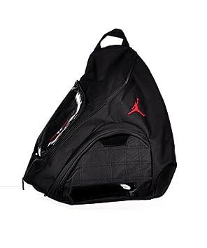535f2205fddf Nike Jordan Jumpman Sling Black Patent Red Zipper Book-Bag BackPack  Men Women by Jordan  Amazon.co.uk  Sports   Outdoors