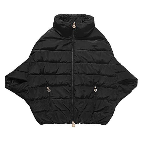 SeniorMar Femmes Hiver Bat-Wing Sleeve Manches Courtes Down Jacket Veste en Velours-rembourr Cape Extrieure Manteau Casual Solide Femme Feather Dress