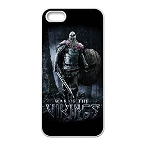 Protection Cover Bnkqz iPhone 5, 5S Cell Phone Case White war of the vikings game Protection Cover