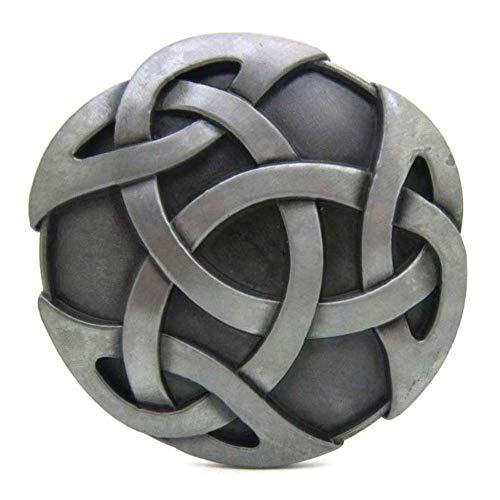 Round Kilt Belt Buckle,Original Celtic Endless Knot Art Design Belt Buckle for Women Men … (Design Endless Knot Celtic)