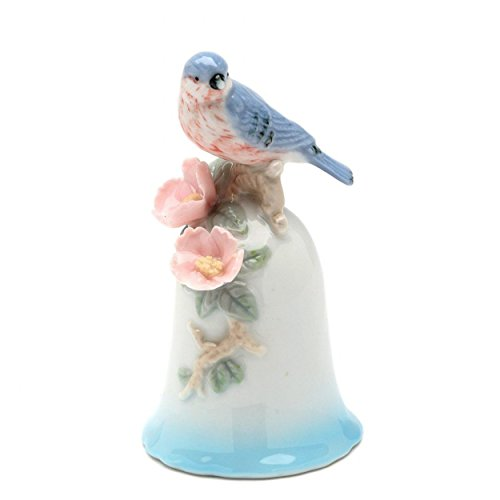 Cosmos Gifts 96407 Mini Blue Bird Porcelain Bell 4