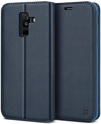 BEZ Funda Samsung A6 Plus 2018, Carcasa para Samsung Galaxy A6 Plus 2018 Libro de Cuero con Tapa y Cartera, Cover Protectora con Ranura para Tarjetas ...