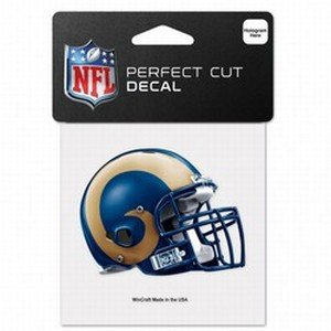 WinCraft NFL St. Louis Rams 95772010 Perfect Cut Color Decal, 4