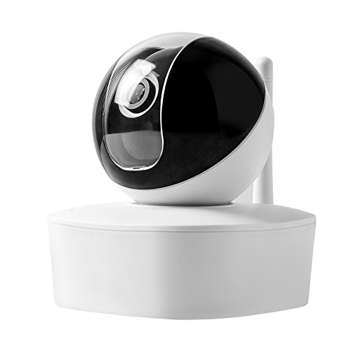 LIANDE.H Wireless Security IP Camera, Pan/Tilt, Two-Way Audio & Night Vision WiFi Camera With Baby Monitor (white)