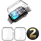 SUPCASE Apple Watch 4 Case 40mm 2018, [Built-in Screen Protector] Soft TPU Protector Case [2 Color Combination Pack] for Apple Watch Series 4 40mm (Clear/Clear)