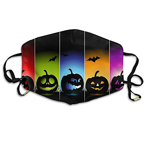 Fashion Outdoor Mouth Mask with Design, Reusable Half Face Mask Anti-dust Mask, Funny Happy Halloween Background Anti Dust Anti Pollution Masks Suitable for Man Woman]()