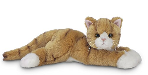 Plush Jungle Cat - Bearington Collection Plush Stuffed Animal Orange Striped Tabby Cat 15""