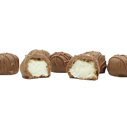 Philadelphia Candies Homemade Coconut Creams, Milk Chocolate 1 Pound Gift Box