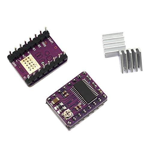 - DGZZI 2PCS DRV8825 for RAMPS Stepper Motor Driver Module 3D Printer Accessaries Heat Sink 4 Layer PCB Purple Board