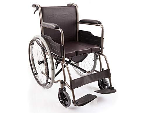- Ho,ney Folding Portable Toilet with All Steel Tube Wheelchair for The Elderly Walking Wheelchair with Toilet -98749Wheelchairs