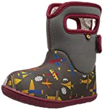BOGS Baby Snow Boot, Planes Gray Multi, 8 Medium US Toddler