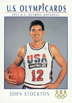 - John Stockton Basketball Card (Dream Team USA) 1992 Impel Olympicards #17