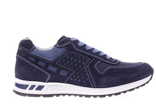 Nero Giardini Uomo Sneaker P704901U-200 Sneaker Camoscio e Tessuto Blu