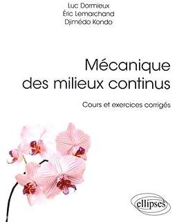 mecanique des milieux continus 2e ed