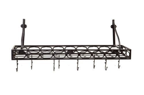Old Dutch Wall-Mount Bookshelf Pot Rack