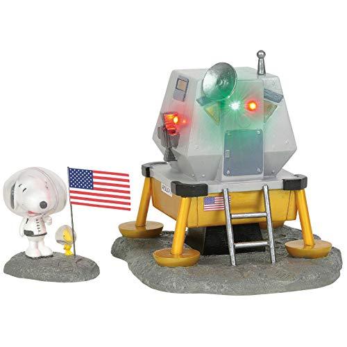Department 56 Peanuts Village Accessories Beagle Has Landed Lit Figurine Set, 5.51 Inch, Multicolor