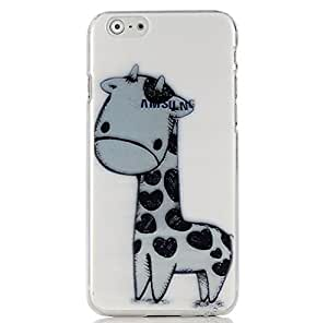 """iPhone 6 (4.7"""") Case - Sunshine Case Mobile Phone Accessory Case Fashion Style Painted Colorful Pattern Protetive Hard Phone Cover Case Cell Phone Back Cover Case for iPhone 6 (4.7"""") 4.7 inch Cover shell (Cute Giraffe)"""