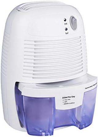 Protege Frente a la Humedad Oficina Cocina la Suciedad y el Moho en casa Mini Deshumidificador El/éctrico 500 ml Compacto y port/átil ANSIO Deshumidificador Garant/ía de 2 a/ños