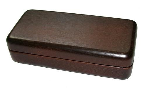 Dr.Watson - Wooden Gift Box, Case for Tobacco Smoking Pipe + cleaning kit set (Large-(9.4''x4.4''))