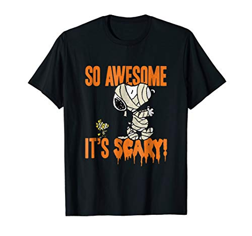 Peanuts Halloween Snoopy Scary Mummy T-Shirt]()