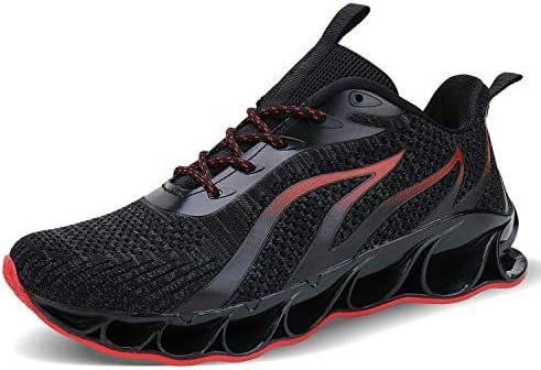 スニーカー メンズ ランニングシューズ ウォーキングシューズ 運動靴 スポーツ クッション性 トレーニングシューズ 通気 軽量 通学通勤 日常着用 ブラック 黒い レッド 赤い