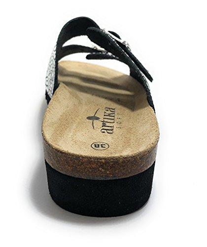 Sabot Donna Artika sandali Argento Basque SfZwZq4