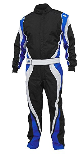 K1 Race Gear Speed 1 CIK/FIA Level 2 Approved Kart Racing Suit (Blue/White/Black, XXX-Large) ()