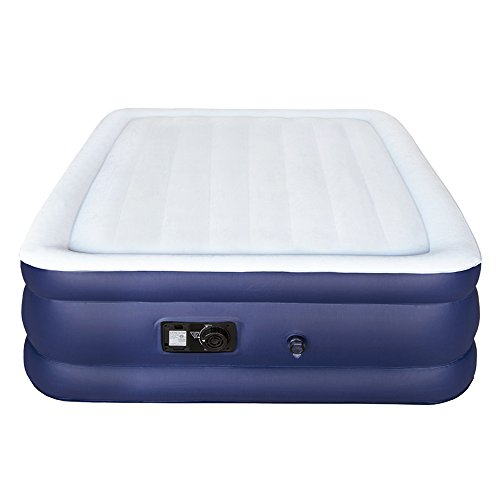 Sable Air Bed with Built-in Electric Pump, Raised Blow up Inflatable Air Mattress with a Storage Bag, Height 18'', Queen Size