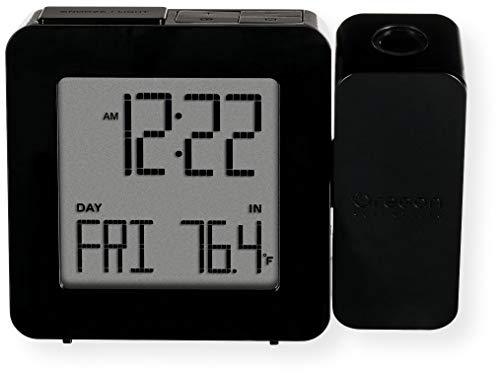 Oregon RM338PA_BK RM338 PROJI Projection Alarm Clock, Calendar Dual Black