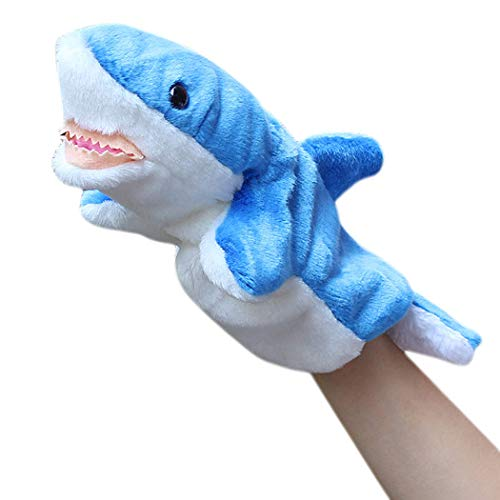 (B bangcool Hand Puppet Storytelling Cute Sea Lion Shark Plush Puppet Animal Toy for Kids)