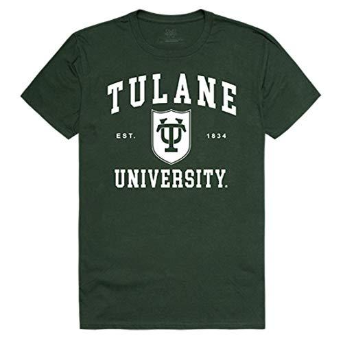 Tulane University Green Wave NCAA Seal Tee T-Shirt Forest XL - Ncaa Tulane Green
