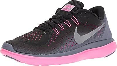 Nike Women's Flex 2017 RN Running Shoe Black/Metallic Cool Grey/Light Carbon Size 7 M US