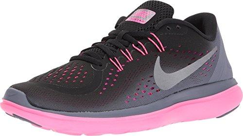 Nike Women's Flex 2017 RN Running Shoe Black/Metallic Cool Grey/Light Carbon Size 6.5 M US ()