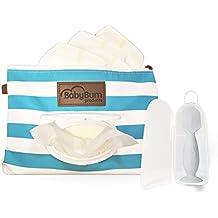 Blue BabyBum Diaper Clutch + Gray Mini Diaper Cream Brush - Travel essentials
