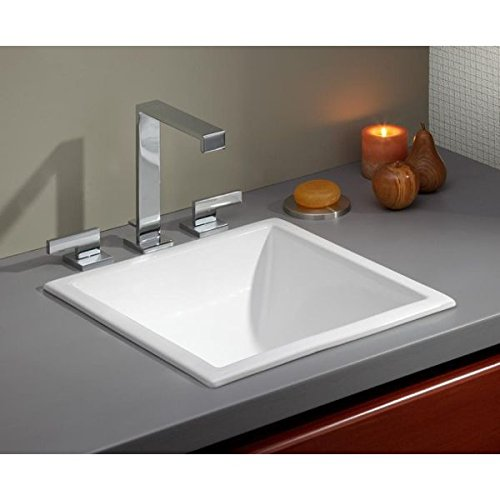 Cheviot 1179-WH White Square Drop-In/Undermount Basin