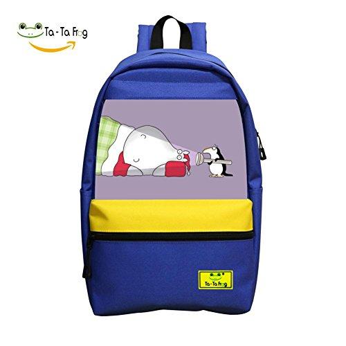 Boys School Bag Penguin & Hippo Special Original On Shoulder Backpack