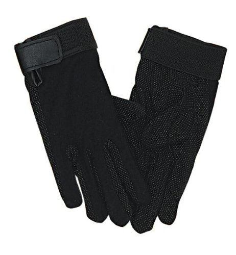 (Perri's Adult Cotton Gloves, Black, X-Small)