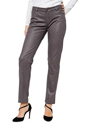 Puppick - Pantalón - recta - para mujer gris oscuro